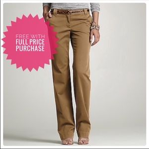 J. Crew Salmon Pink Red City Fit Chinos